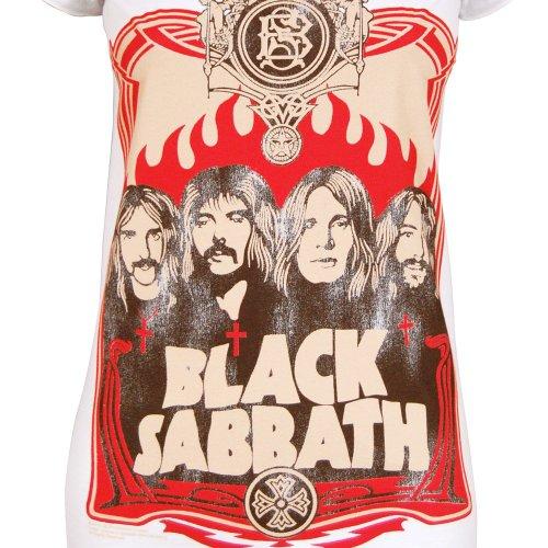 Amplified Damen Black Sabbath T-Shirt Weiß Weiß
