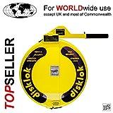 Lenkradkralle + Airbagschutz Disklok L 440 Gelb für Lenkräder mit 41,5-43,5 cm  (für Linkslenker EU ohne UK)