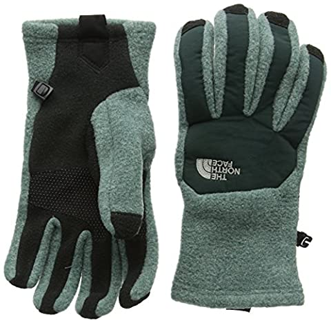 North Face Women's W Denali Etip Gloves, Grey/Black/Blsmghr/Dktsprc, Large
