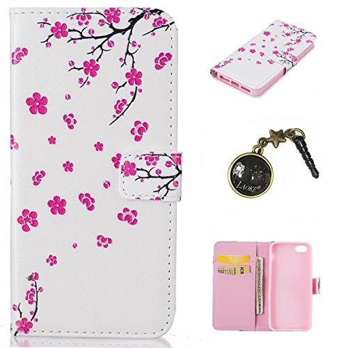 PU Silikon Schutzhülle Handyhülle Painted pc case cover hülle Handy-Fall-Haut Shell Abdeckungen für Smartphone Apple iPhone 5 5S SE +Staubstecker (6WW) 7
