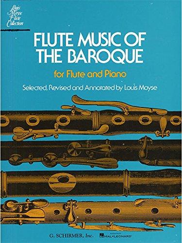 Flute Music Of The Baroque. Partitions pour Flûte Traversière, Accompagnement Piano