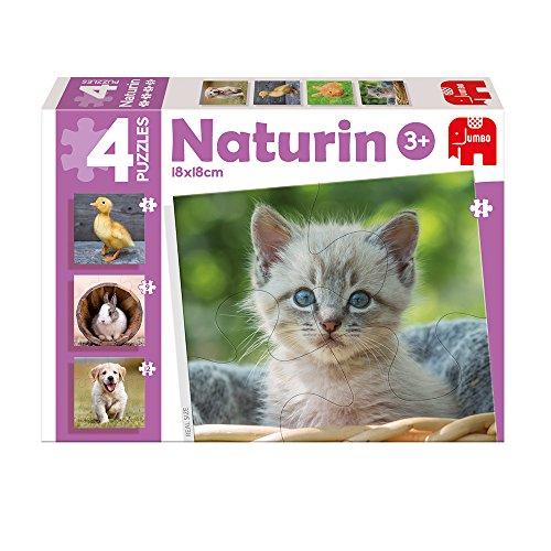Diset - Naturin Photo Animals, 4 Puzzles DE 4, 6, 9 y 12 Piezas (69978)