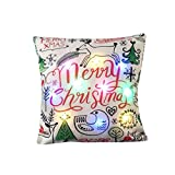 Home Dekor Sofa Zierkissen Kissen Kissenbezüge Christmas Lighting Flashing LED Kissen Weihnachtsdekoration Christmas Decoration LED Lichterkette Blinkende Stripes Zierkissenbezüge Geschenk (H)