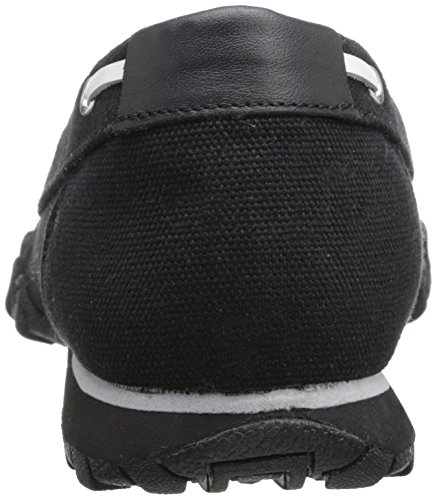 Skechers  Bikers Pedestrian, Basses homme Black Canvas