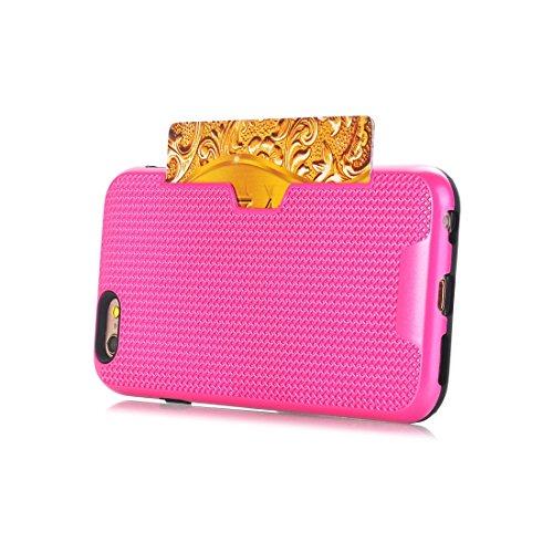 Phone Case & Hülle Für iPhone 6 Plus und 6s Plus Dream Network Fallschutz-Schutzhülle mit Kartensteckplätzen ( Color : Green ) Magenta