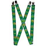 Buckle Down Boys' Suspenders - Classic Teenage Mutant Ninja Turtle 2, Multi, One