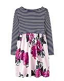 Joules Langarm Print Mix Kleid - Rose Pink Floral
