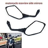 Rückspiegel für Motorrad, integrierter Spiegel für Kawasaki Z1000 2003-2011 Z750 2004-2011 ER-6N 06-10 Versys KLE 650 07-10 ZRX1100 97-00 ZRX1200 01-08 Sport Bike mit 2 Kunststoffspiegeln, Schwarz