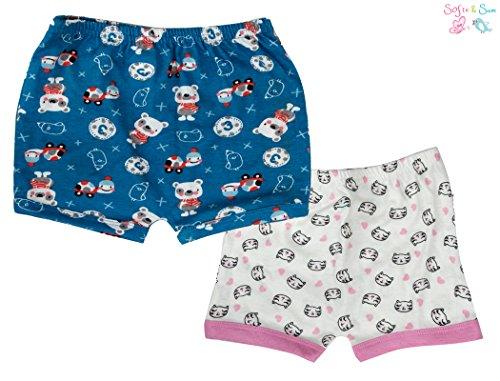 Sofie & Sam Bio-Baumwolle 2er Pack Combo 6-9 Monate Baby Shorts (Bio-baby-nachtwäsche)