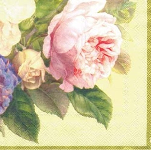 �Zählen 3-lagig Papier Cocktail Servietten Fairy Rose Cream ()