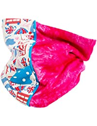 Red de Pois - PE16-005-S - Foulard, Snood rose et bleu fille de 2 à 5 ans motifs London