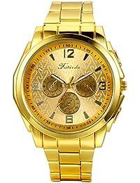 Regalo de papá Día del Padre Jewelrywe Reloj Dorado de Esfera Oro c54d1cc04818