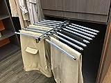 Rangez - Porte Pantalons Double 18 Barres Avec Anti-Glisse