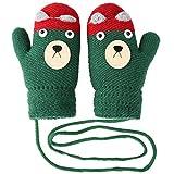 Vbiger Kinder Winter Handschuhe Warm Stretchy Gestrickte Bequeme Handschuhe Fäustlinge Soft Magic Handschuh Kälte Handschuhe für 4-8 Jahre Alt