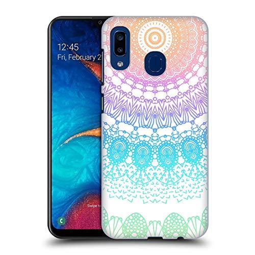 Head Case Designs Offizielle Monika Strigel Ragenbogen Boho Spitze Harte Rueckseiten Huelle kompatibel mit Samsung Galaxy A20 / A30 (2019)