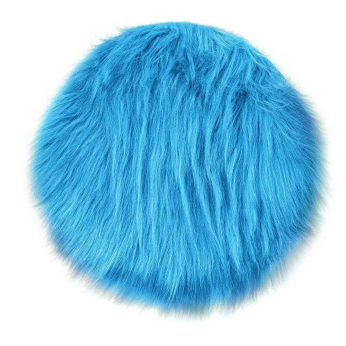 Yuhuistart-decorazione domestica, tappeto rotondo 55 centimetri blu