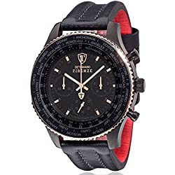 DeTomaso Men's Quartz Watch Chronograph Display and Leather Strap DT1045-K