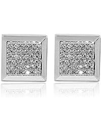 508a007d7b86 earrings-midwestjewellery Hombres de 9 mm de ancho pendientes 10 K oro  blanco 1