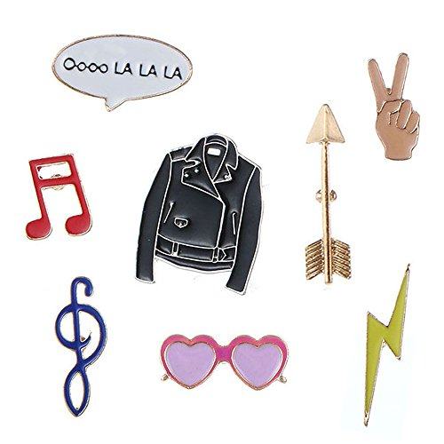 8 Piezas de Moda Lindo Cartoon Pin Solapa Set...