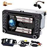 Double Din In Dash Car Stereo 7'' HD Digital Touch screen Car DVD Player GPS Navigation 2din Car Radio Supports CANBUS/Bluetooth/Subwoofer/iPod+Wireless Rear Camera