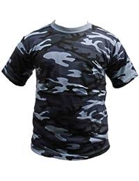Dallaswear - T-shirt -  Homme -  Bleu - Midnight - Medium