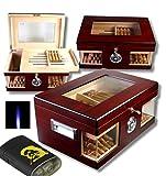 Lifestyle-Ambiente Wood Wonderful Kristallglas Humidor V-1320 inkl Feuerzeug und Tastingbogen