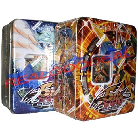 YuGiOh 5D's 2009 Collector's Tins 1st Wave Ancient Fairy Dragon and Power Tool Dragon ( Set of 2 Tins ) by Yu-Gi-Oh!
