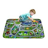 "House of Kids 86133-E3 130 x 180 cm ""Speed Way City Airport"" Ultra Soft Play Mat"