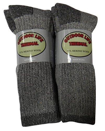 Different Touch 6 Paar Herren-Socken aus 71% Merinowolle, Wanderstiefelsocken -
