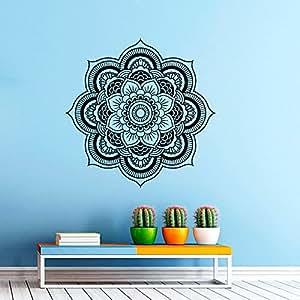 wandtattoo wandaufkleber aus vinyl motiv mandala marokkanisches muster geometrische indisch. Black Bedroom Furniture Sets. Home Design Ideas