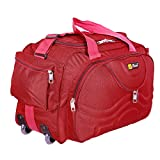 #8: Generic Choice Fabric Multipurpose Duffle Bag (Red)