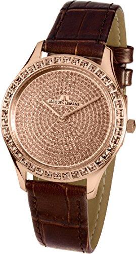 Jacques Lemans Reloj Multiesfera para Mujer de Cuarzo con Correa en Cuero 1-1841ZJ