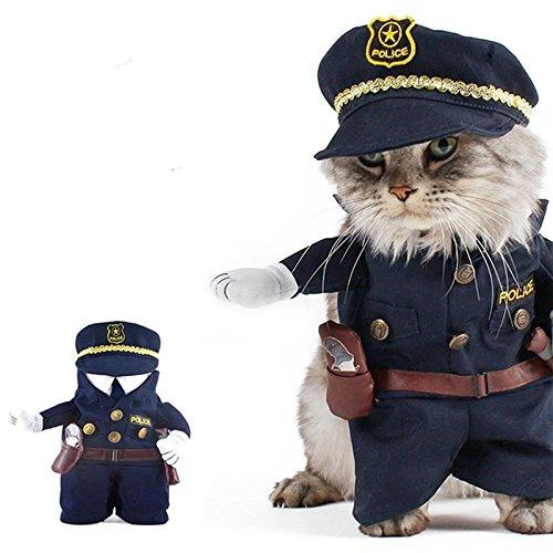 Zantec Pet Policeman Costume Dog Jeans Clothes Cat...