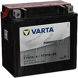 VARTA 512014010 - Powersports AGM Batterie de Moto - 12V / 12 Ah