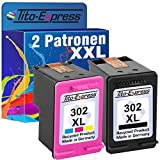 PlatinumSerie® Set 2 Druckerpatronen remanufactured für HP 302 XL Black & Color mit Füllstandsanzeige und 148% mehr Inhalt! Für HP OfficeJet 4650 4650 Series 4654 4655 4656 4657 4658