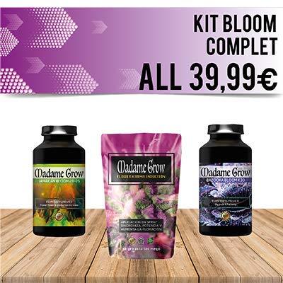 Nährstoff-kit (MADAME GROW ⭐️⭐️⭐️⭐️⭐️ Kit Bloom COMPLET TRIPACK Explosive Blüte - Große und schwere Knospen - Verbesserter Geschmack deckt die gesamte Blüte Ihrer Cannabis- oder Marihuana-Pflanze )