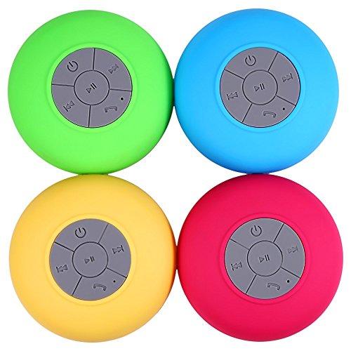 sistant BTS-06 tragbare Mini-Dusche Bluetooth-Lautsprecher mit Sucker Unterst¨¹tzung Freih?ndige Anrufe Funktion f¨¹r Handys [rot] ()