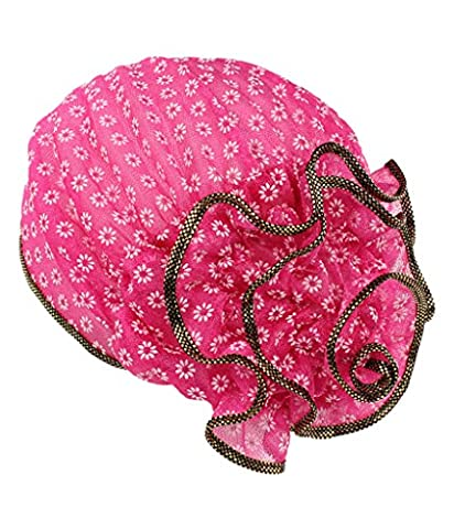 I VVEEL Women's Muslim Lace Floral Turban Hat Cap