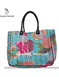 Indian Handmade Bohemian Beach Bags Hippe Top-Handle Cotton Handbag Boho Hobo Tote Bag Simple Purse Fashion Designer...