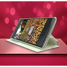 Prevoa ® 丨 Doogee DG280 Funda - Flip PU Funda Cover Case para DOOGEE LEO DG280 3G Con 4.5 Pulgadas Android Smartphone - Blanco
