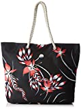 Roxy RoxyPrintedtropical - Bolsa de Hombro Mujer, Negro (Noir (Anthracite Drop out)), 32x14.5x40 cm (W x H x L)
