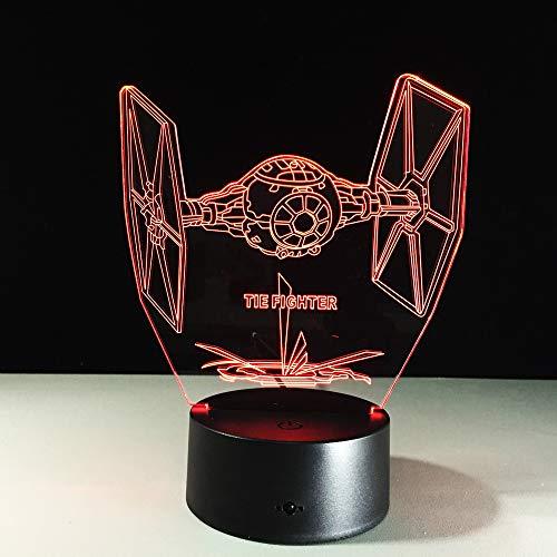 Envolez-vous vers la Terre Avion Hélicoptère 3D LED Lumière 7 Changement de Couleur Bébé Chambre Lampe De Table Meilleur Décor À La Maison Cadeau ## 4