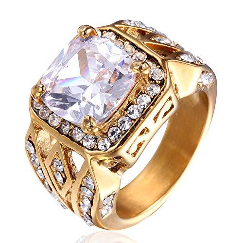 etro Titan Stehlen Persönlichkeit Diamant Ringe,Weiß,Größe 57 (18.1) ()