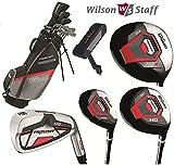 Wilson ProStaff HDX komplett Golf Club Set & Stand Bag New Eisen mit Stahlschaft & Graphit-Schaft Woods, Herren Rechte Hand