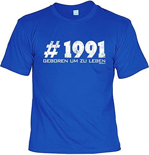 T-Shirt zum Geburtstag - # 1991 - Geboren um zu leben - Geburtstagsgeschenk - Fun shirt - royalblau Royalblau