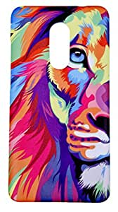 Lakshya creative Lion Face Animated Designer Printed Xiaomi Redmi Note 4 mobile case back cover