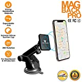 Tech Sense Lab® MagBack Pro Car Mobile Holder ✔ Universal Magnetic Mobile Mount