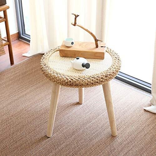 Fengkuo Nordischen Stil Einfache Runde Tisch, Rattan Massivholz Runde Tisch, Geeignet Für Wohnzimmer Schlafzimmer Balkon Sofa Seite, Etc. einfache Installation (Color : Light) - Schlafzimmer-rattan-tisch