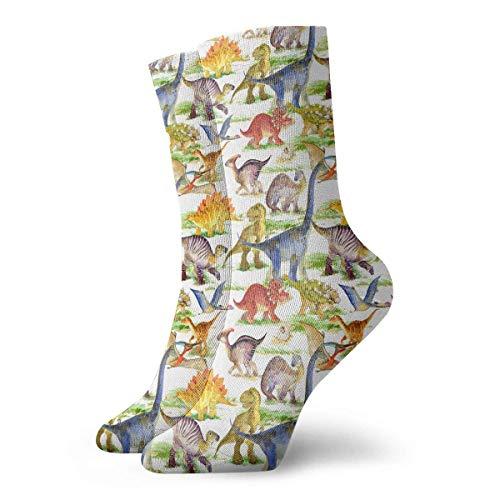 dfegyfr Women Men Cute Dinosaurs Pattern Athletic Ankle Socks -
