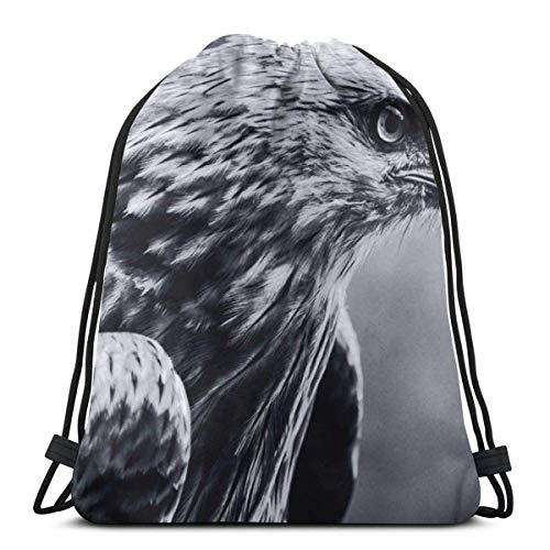 Cap pillow Bird Bath Winter Tree Branch Art Custom Drawstring Shoulder Bags Gym Bag Travel Backpack Lightweight Gym for Man Women 16.9
